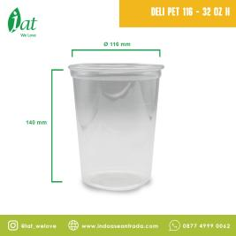 Deli Container 32 oz D116 mm  910 ml Outer Lock