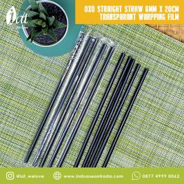 OXO Straight Straw 6MM X 20CM Transparant Wrapping Film