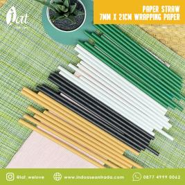 Paper Straw 7MM X 21CM Wrapping Paper
